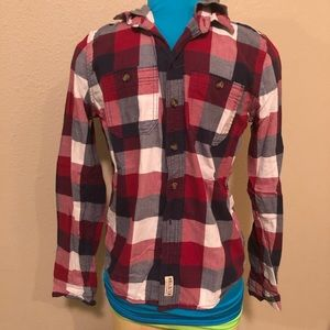 Men's Hooded Button Down Flannel
